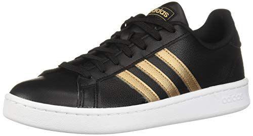 adidas Women's Grand Court, BlackCopper MetallicWhite, 7.5