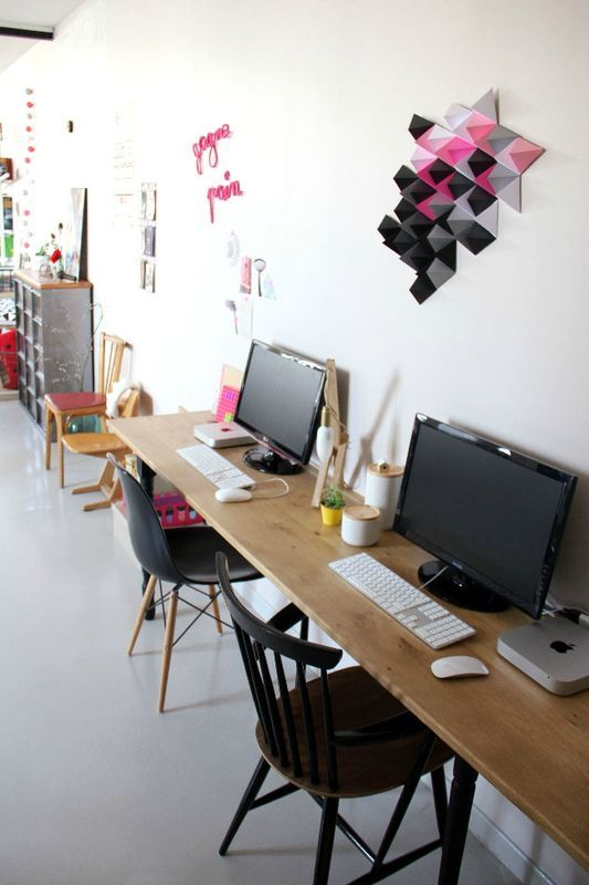 Notre bureau double home made Tte dange Workspaces Office