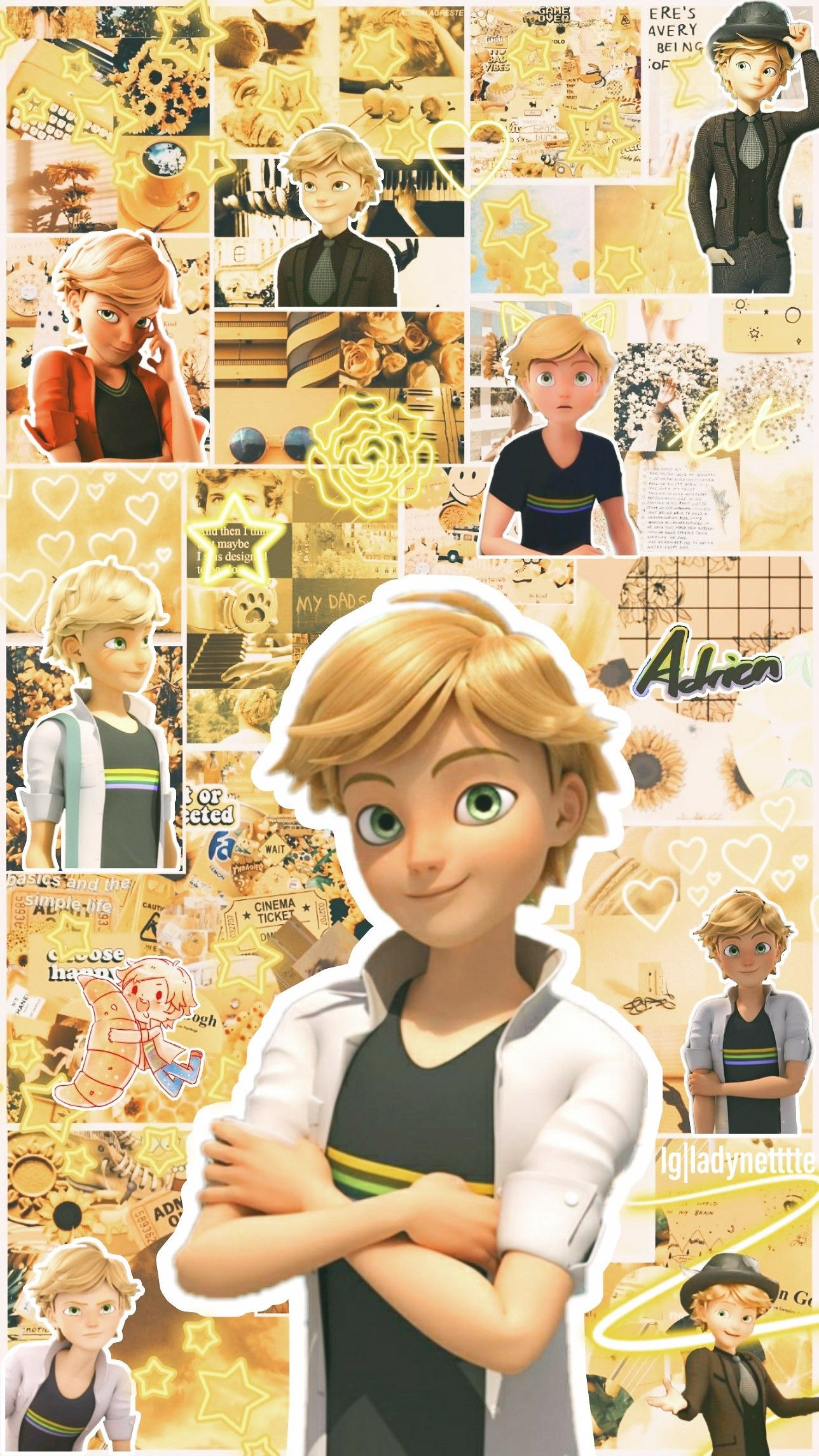 Photo of 💛Adrien Wallpaper💛 Follow me on Insta (ladynetttte) for more miraculous wallpapers!