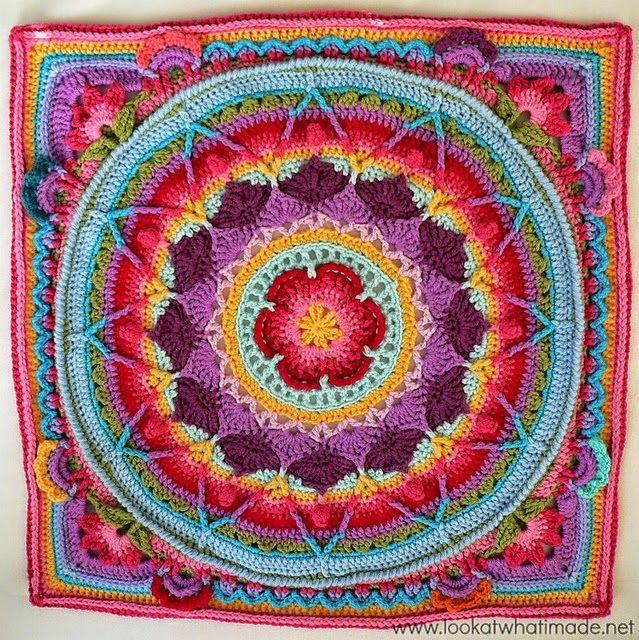 Alfombra mandala con paso a paso y pdf todo crochet for Todo alfombras