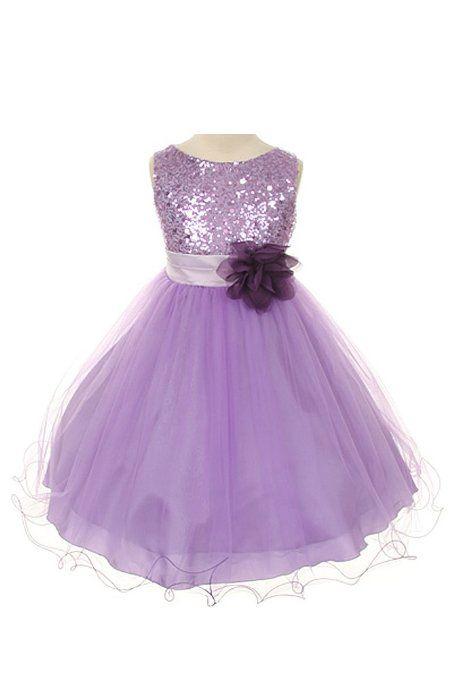 636e88a9f78 Amazon.com  Kids Dream Sequin Mesh Flower Girl Dress Infant Toddler Little  Girl (2T-14)  Kids Dream  Clothing