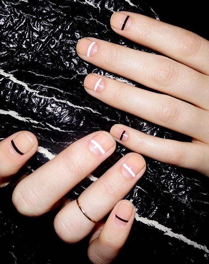 single line nail