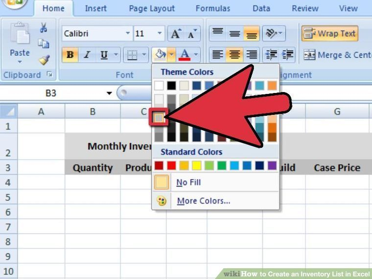 4 Ways to Create an Inventory List in Excel - wikiHow Work - inventory list sample