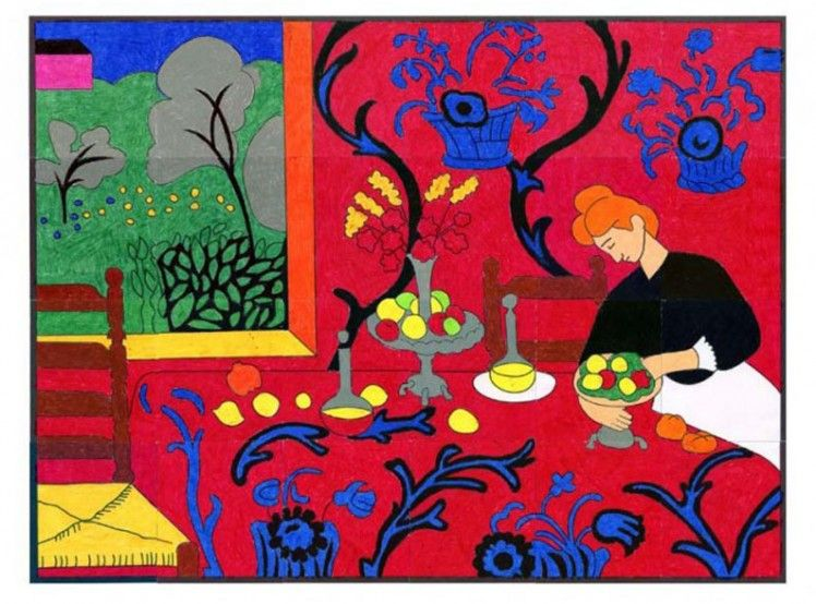 Matisse Red Room Mural | Print..., Template and French