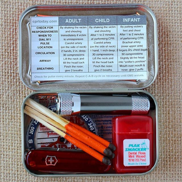 Diy Thrill On Instagram Mini Diy Survival Kits Perfect For Travel Hiking Camping Or The Car The Stocking Stuffers For Men Survival Skills Survival Kit