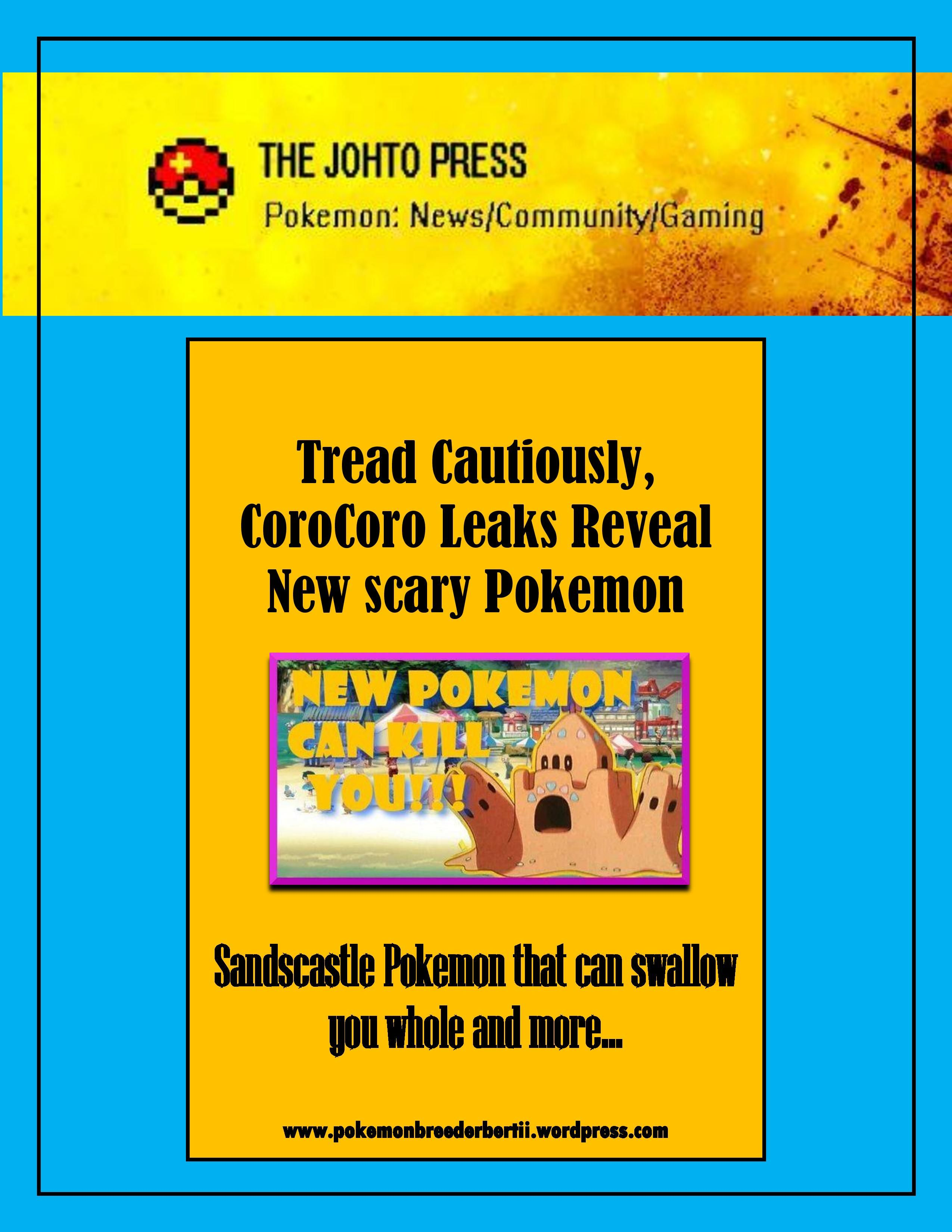 Are you afraid of quicksand? If so, then watch out for the new ... for Sandcastle Pokemon  45hul