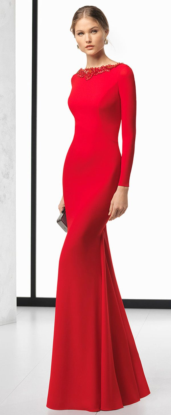 Junoesque Spandex Bateau Neckline Long Sleeves Backless Sheath ...