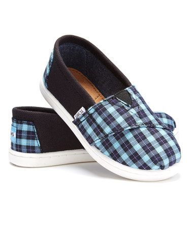 Another great find on #zulily! Black Micro Check Alpargatas - Tiny #zulilyfinds