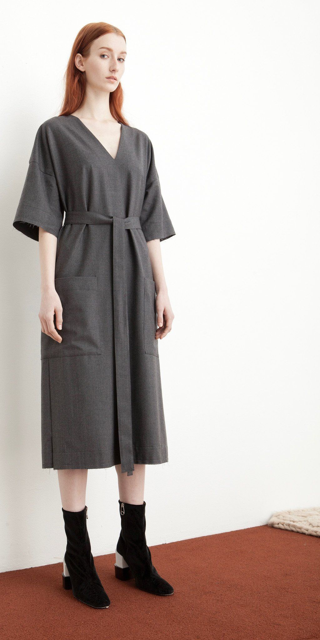 Kandan dress in granite granite minimal and korean