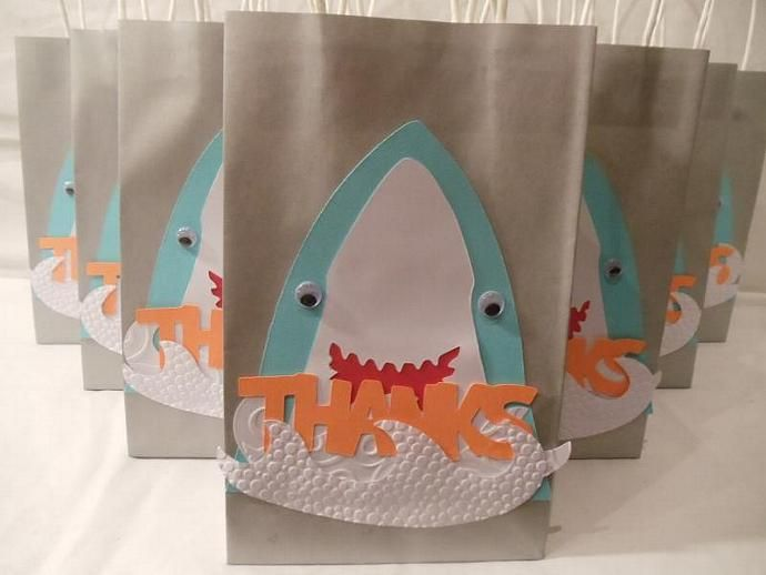 Shark goodie bags | Pinterest | Goodie bags, Shark and Shark party
