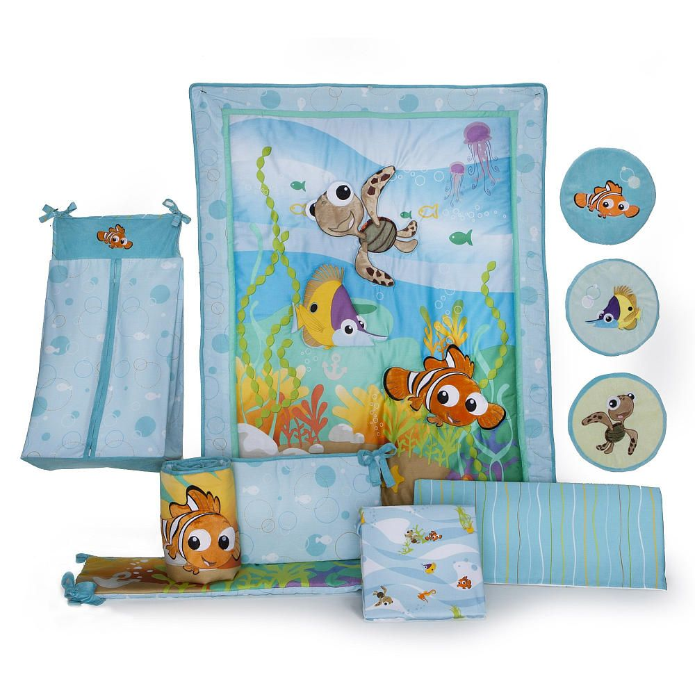 Crib for twins babies r us - Disney Finding Nemo 8 Piece Crib Bedding Set Kids Line Babies R