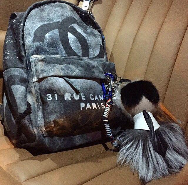 7a610a3ddcdc Chanel Backpack Karl Lagerfeild Fendi Keychain