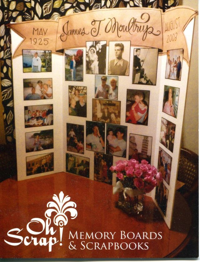 Memorial boards memory boards project pinterest for Family display board ideas