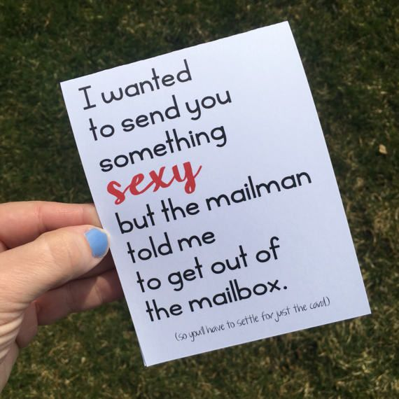 Funny Long Distance Relationship Card Sexy Mail Miss