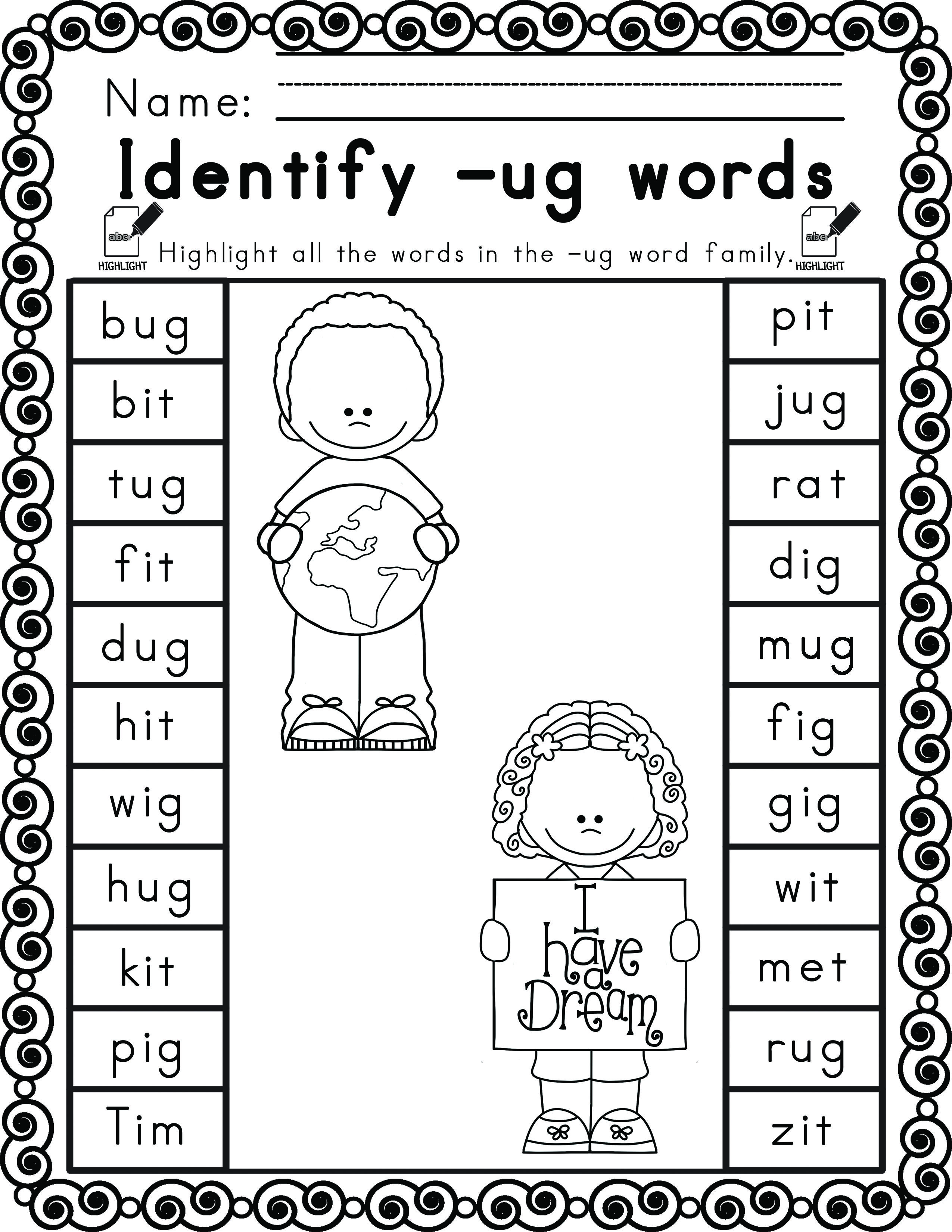 Worksheets For Martin Luther King Ela Literacy And Math