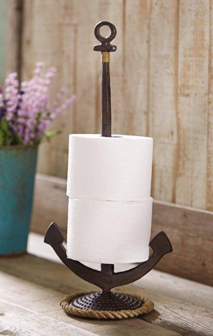 Coastal Paper Towel Holder Amazing Mud Pie Anchor Paper Towel Holder Or Tissue Holder  Coastal Decorating Inspiration