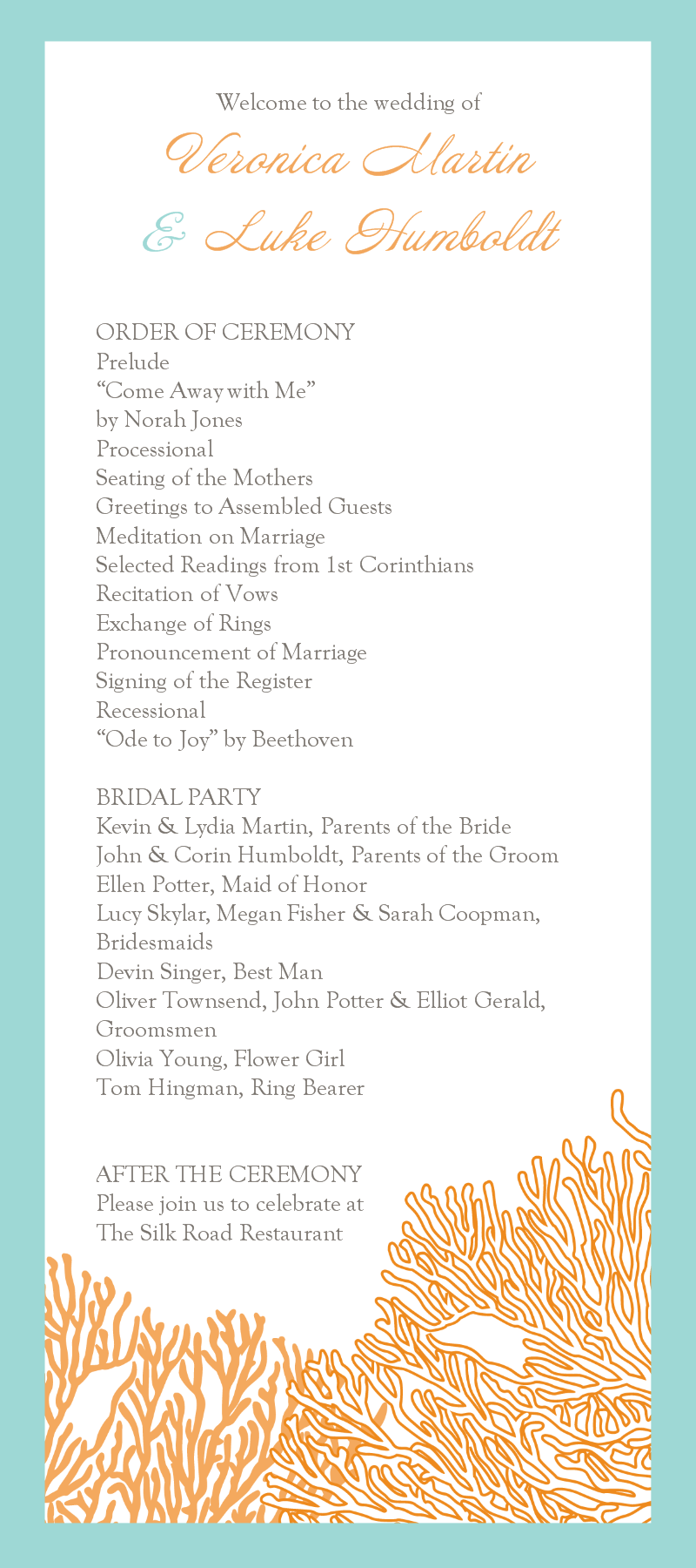 wedding ceremony templates free