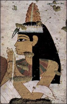 Egyptians were particularly fond of eye makeup. They wore black eyeliner---known as mesdemet of kohl, from Arabic, the world's first mascara---in a circle or oval around their eyes,