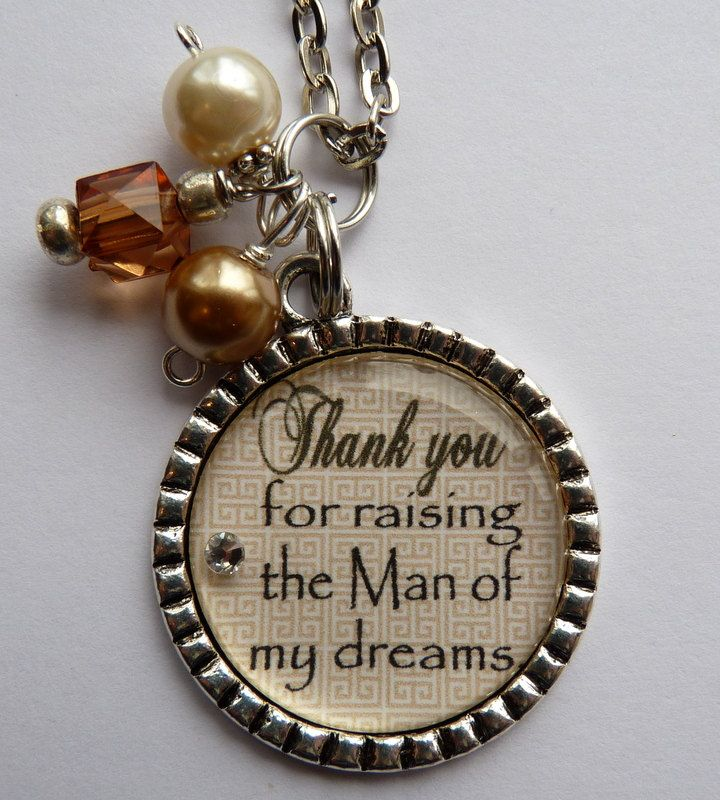 Mother of the Groom Necklace, Thank you for raising the man of my ...