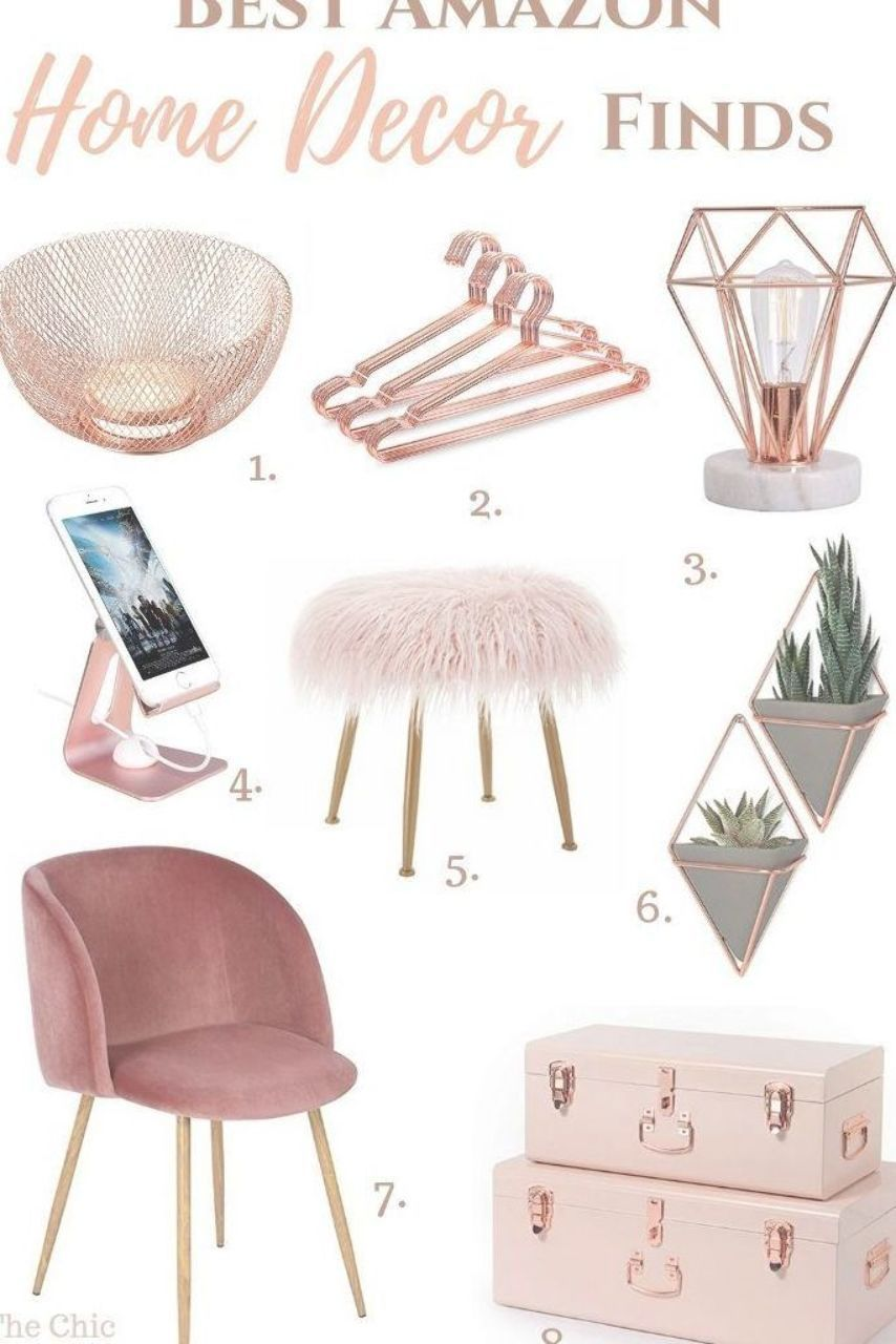 Best Gold Home Decor Accents: the best gold ideas for a beautiful home! Whether you prefer rose gold home decor or gold house decor, we've selected the best of both from Amazon. Some of these gorgeous items cost as little as $20! #goldhomedecor #rosegoldhomedecor #goldhousedecor #golddecorideas  #mziemeking #home accent luxury #amazonhomedecor