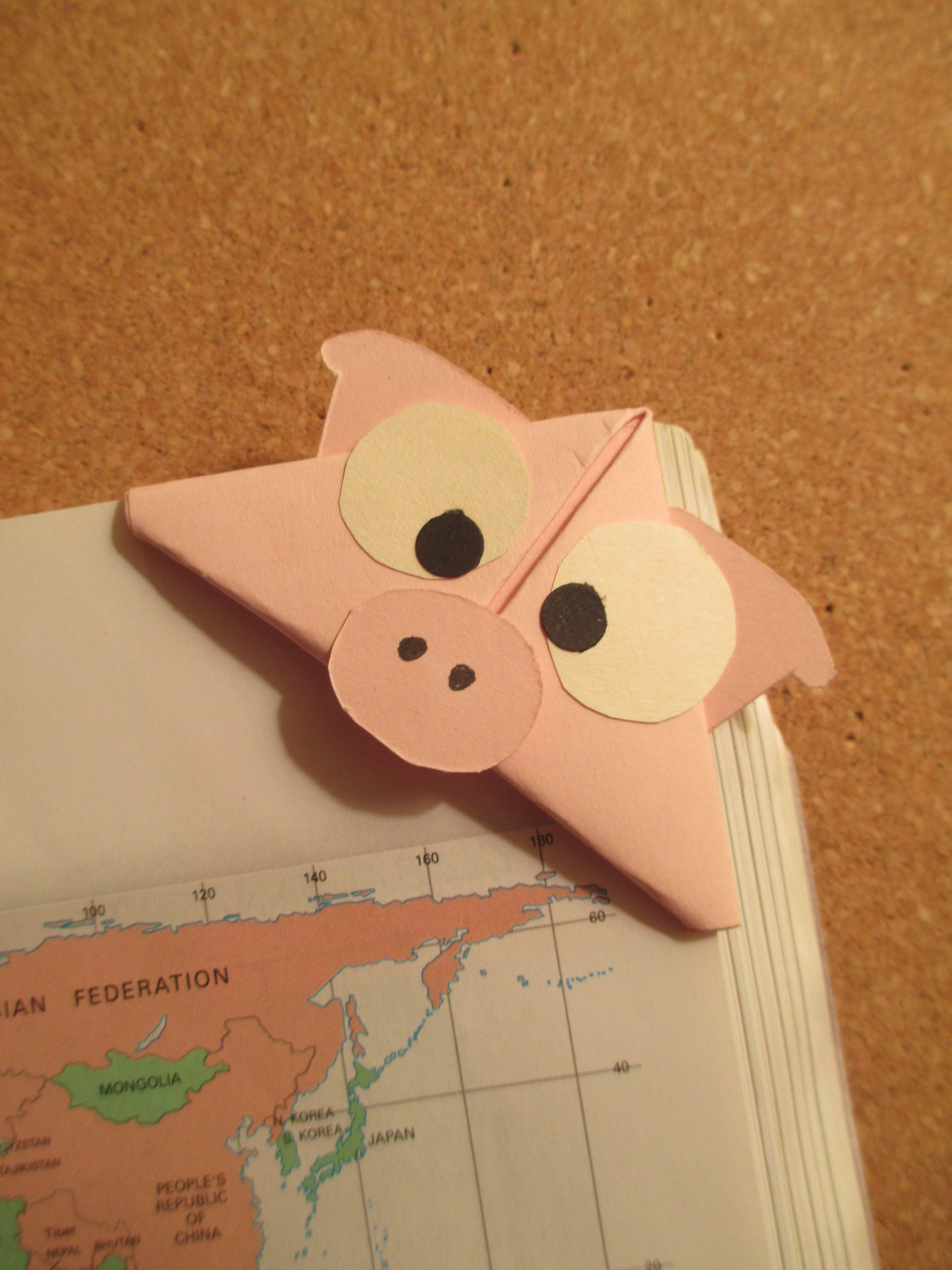 pig bookmark   Handmade Origami Bookmarks   Pinterest ... - photo#8