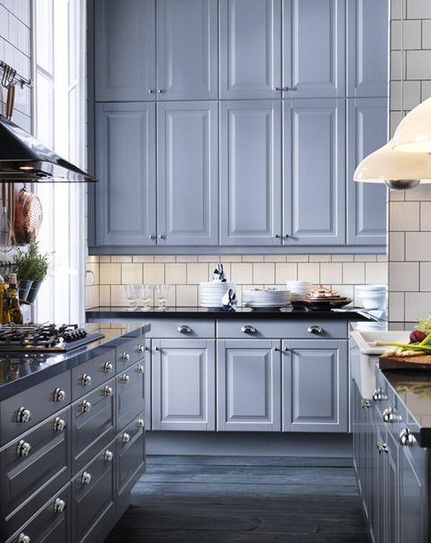 Cuisine Serie Lidingo Ikea Batt Residence Cabinets Dark Kitchen