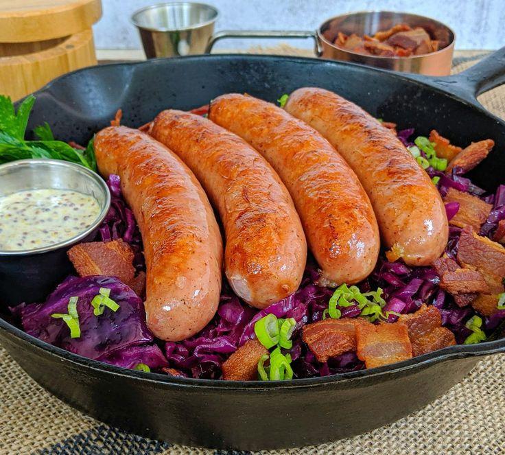 Octoberfest German Red Cabbage w/ Bratwurst and Horseradish Mustard Aioli - Culi... - #Aioli #Bratwurst #Cabbage #Culi #German #Horseradish #Mustard #Octoberfest #Red #octoberfestfood