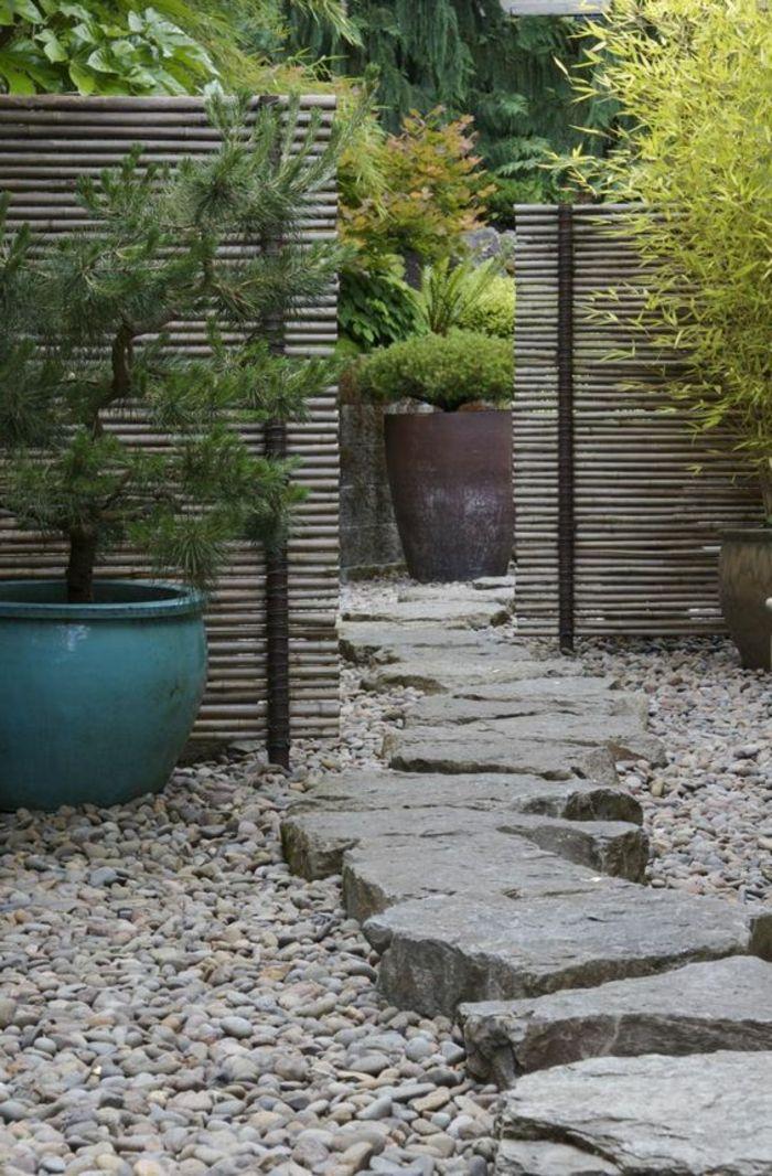 Revetement Sol Extereieur Pas Cher Allee Gravier Cailloux Decoratifs D Exterieur En 2020 Jardin Zen Japonais Jardin Zen Jardins