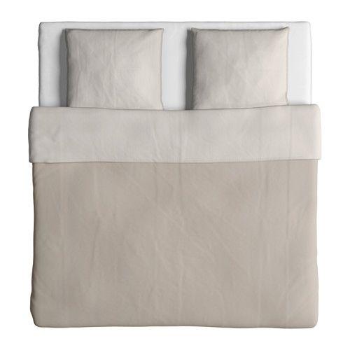 BLÅVINDA Housse de couette et taie - beige 150x200/65x65 cm | Housse de couette, Couette, Ikea