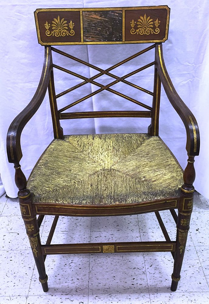 The Treaty Elm Chair Legend Holds That This Rush Seat Chair Is