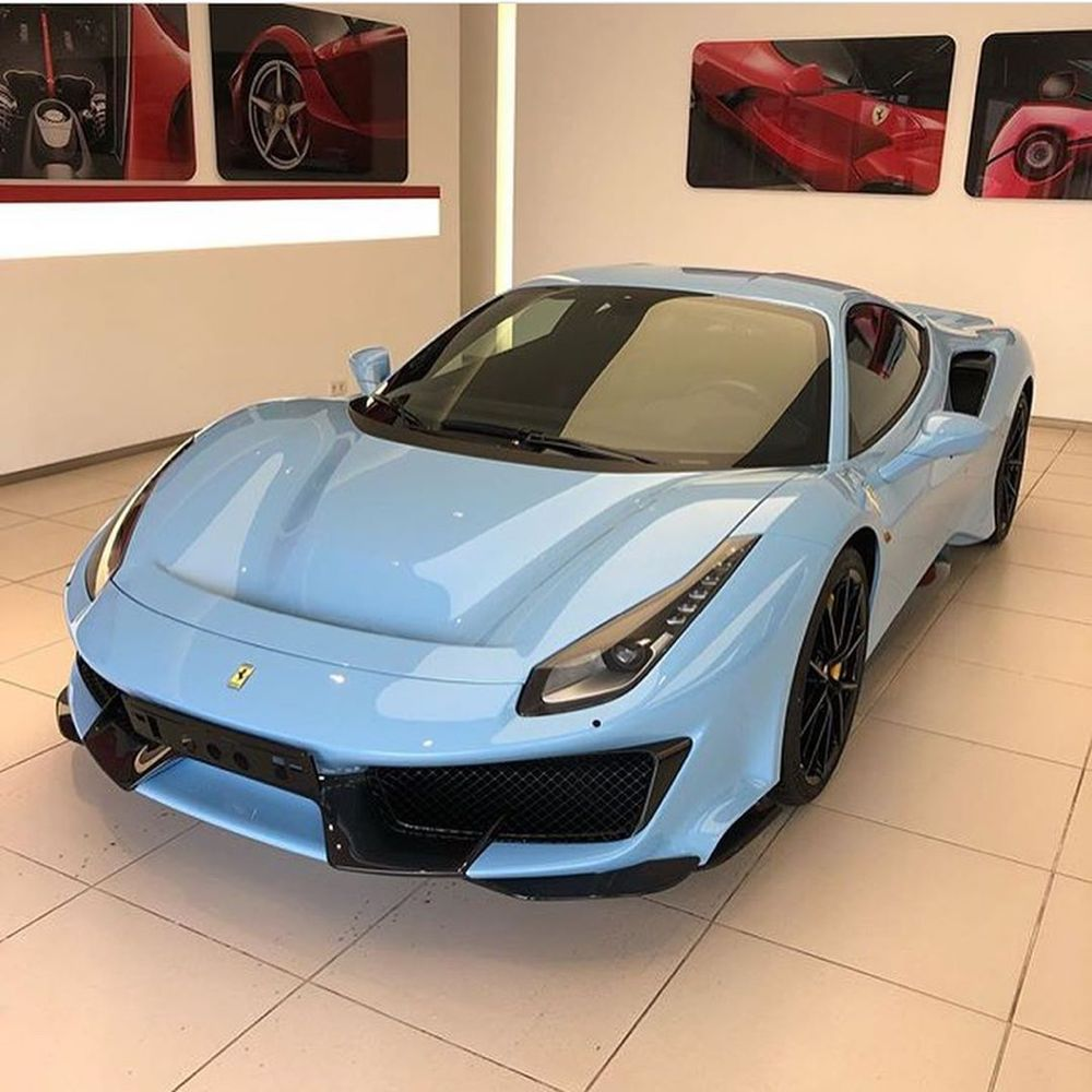 Ferrari 488 Pista On Instagram As Blue As The Sky