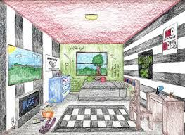 drawing a room in one point perspective google search - Arts Plastiques Chambre En Perspective