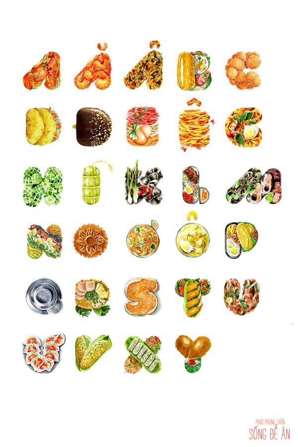 Food alphabet - Sống Để Ăn on Illustration Served