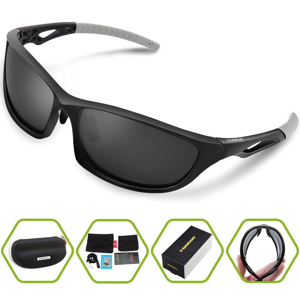 0504f2360b5 Fashion Sports Sunglasses Polarized Outdoor Glasses for Men Women Running Fishing  Golf Unisex Sport Eyewear Unbreakable Frame