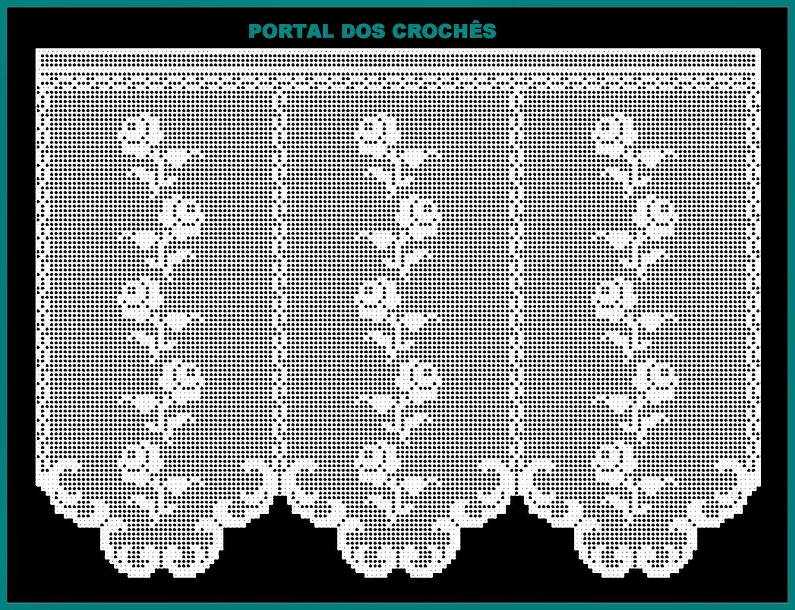 Portal Dos Croch S Esquemas Para Cortinas De Croch De Fil Com