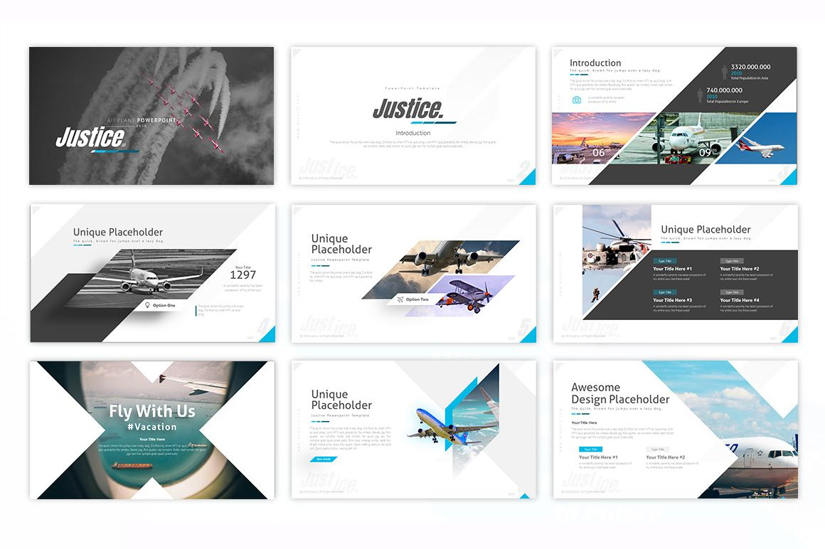 Justice Airplane Powerpoint Template Powerpoint Template