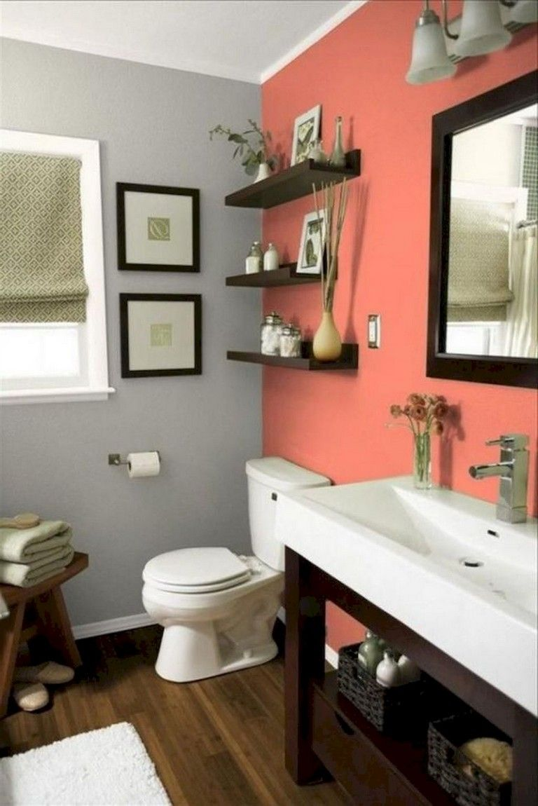 70 Good Apartment Bathroom Decoration Ideas In 2020 Small Bathroom Decor Bathroom Color Schemes Bathroom Color