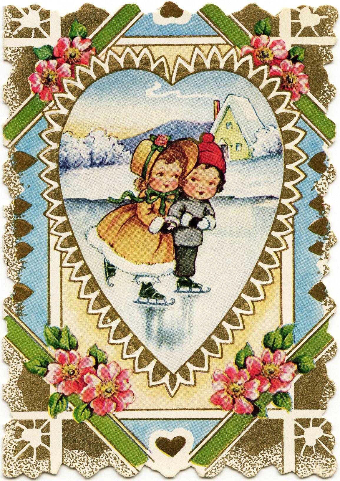 free vintage valentine Victorian valentine printable old – Vintage Victorian Valentine Cards
