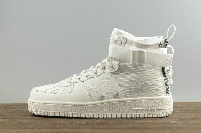 Shop Nike SF-AF1 Mid TRIPLE IVORY ivory ivory White blanc Mens Skate Shoes  aa6655 100 Youth Big Boys Shoes 80c3baea8356