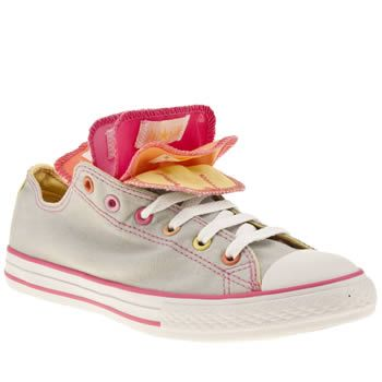 Junior Light Grey Converse All Star Multi Tongue Ox Youth at