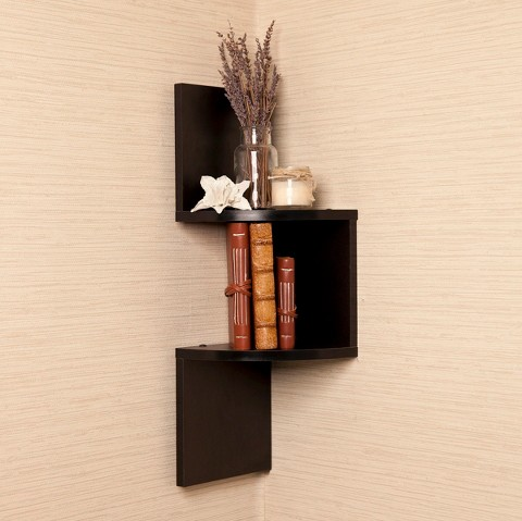 A Zigzagged Corner Bookshelf That S Perfect For Tiny Spaces