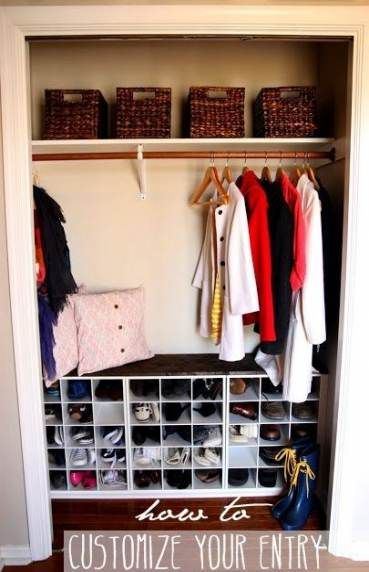 New Coat And Shoe Closet Organization Diy Ideas #diy