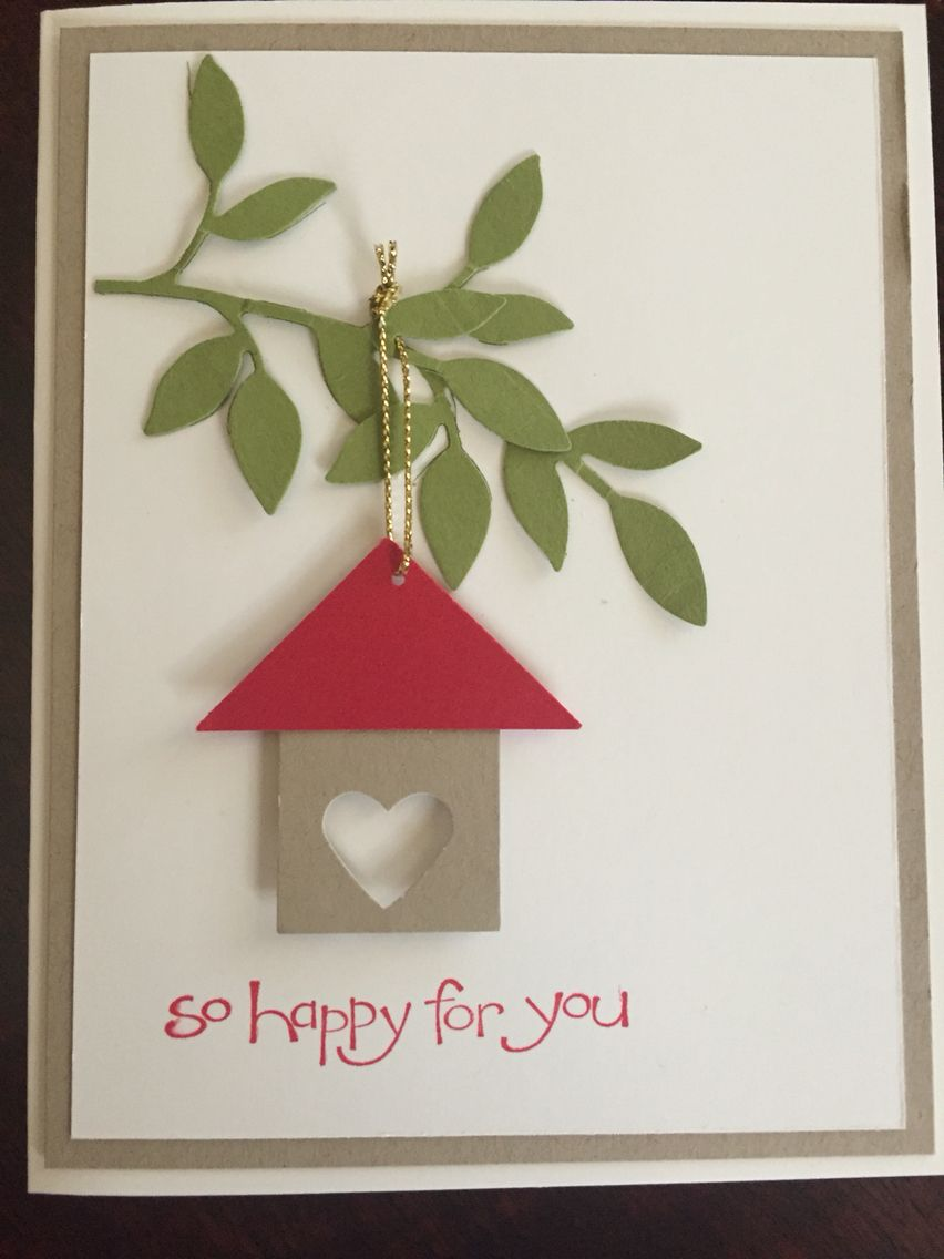 Congratulations on your new home card card making for Christmas card ideas to make at home