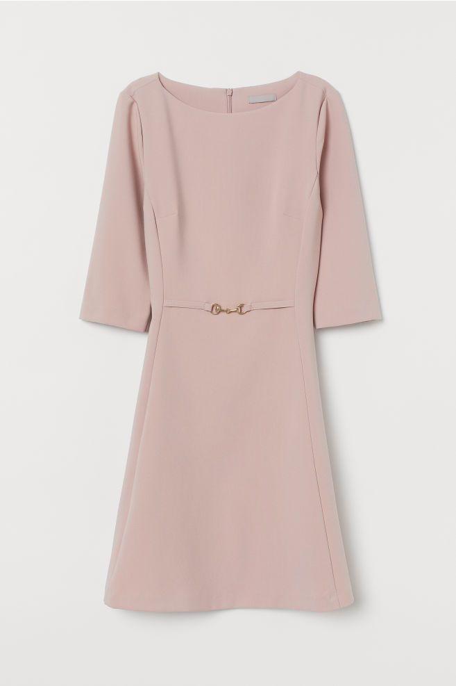 Kleid mit Metallschnalle - Puderrosa - Ladies | H&M DE ...