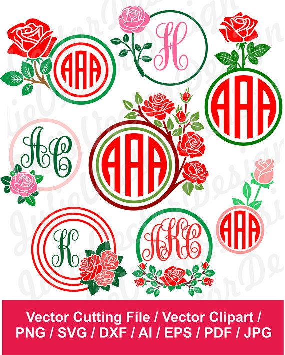 24+ Circle Monogram Frames #4 – Svg, Dxf, Eps Digital Cut Files SVG