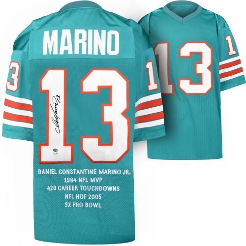 size 40 c79d3 0b331 Signed Dan Marino Stat Jersey | Christmas Ideas | Dan marino ...