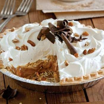 Louisiana Cookin' Magazine's Caramel Pie -EXCEPT I make a cream cheese pie crust (see Cook's Country) AND I use Martha Stewart's Whipped Cream recipe! Be VERY careful making this BUT it is so easy and SO worth the time it takes to make it!