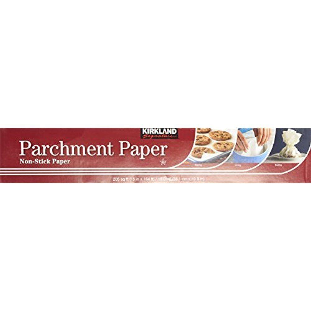 Kirkland Signature Non Stick Parchment Paper 205 sqft Liner Baking ...