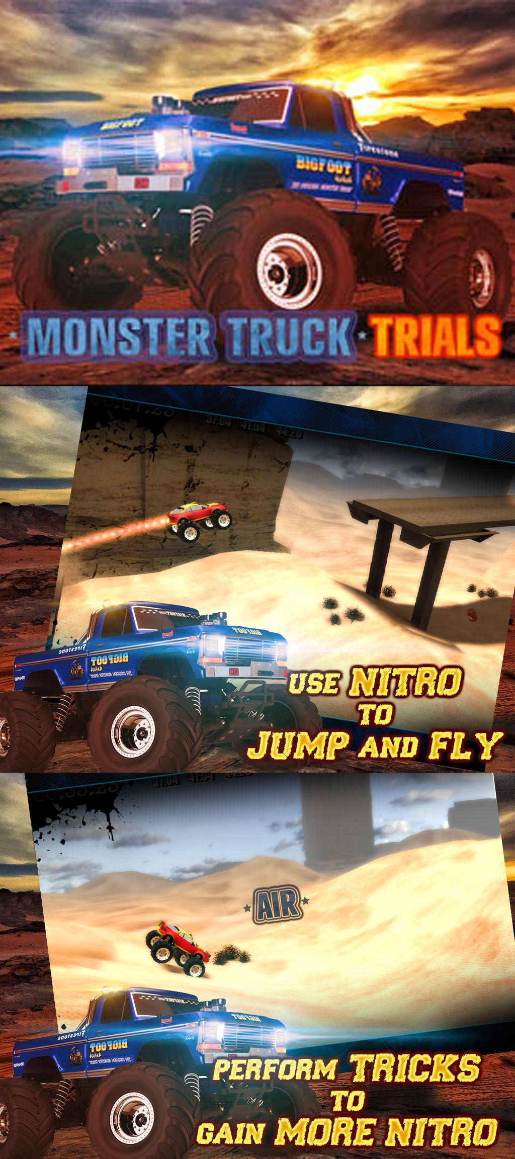 Monster Truck Trials Game Downloads Great In 2018 Pinterest