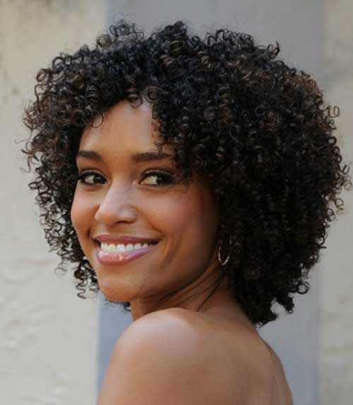 15 Cute Short Hairstyle For Black Women Jpg 500 573 Front Lace Wigs Human Hair Natural Hair Wedding Curly Hair Styles